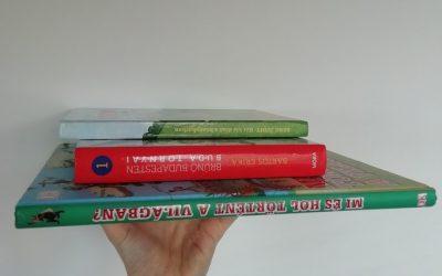 4 töris könyv 5-10 éveseknek foglalkozás ötletekkel.